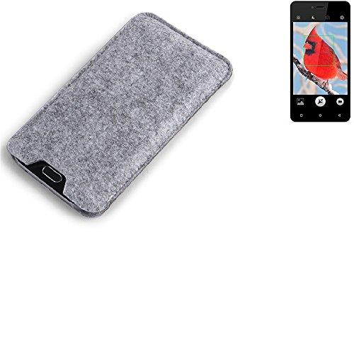 K-S-Trade Filz Schutz Hülle für Allview V2 Viper i4G Schutzhülle Filztasche Filz Tasche Case Sleeve Handyhülle Filzhülle grau
