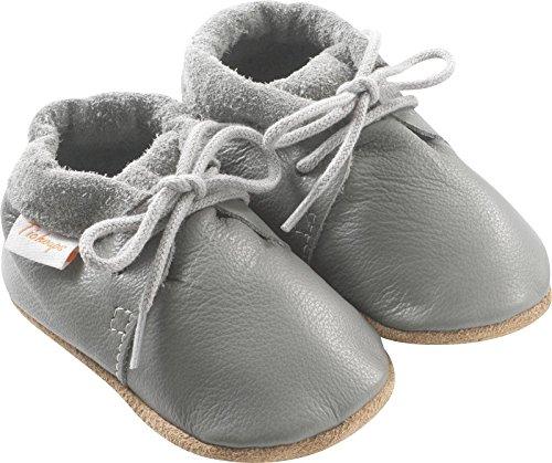 d1da38c310dc0 Tichoups Chaussures bébé cuir souple Tilou grises