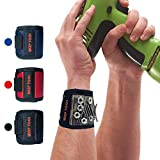 Magnetische Armbänder, Magnetarmband mit 10 starken Magneten, Schrauben, Nägel, Dübel, Bohrungen und kleine Werkzeuge und Schrauben Tasche -Best Werkzeug Geschenk für DIY Handwerker, Vater, Ehemann, Freund, Männer, Frauen