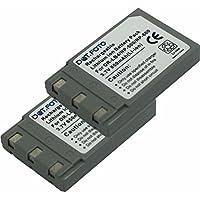 2 x Konica Minolta NP-500, NP-600 PREMIUM Dot.Foto Batteria sostituitiva Dot.Foto - 3.7V/850mAh - Garanzia: 24 Mesi [Vedere la descrizione per la compatibilità]
