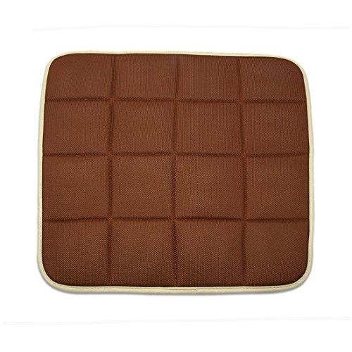Preisvergleich Produktbild sourcingmap® Kaffee Farbe Quadrat Form Bambus Holzkohle Auto Sitzkissen Matte Abdeckung