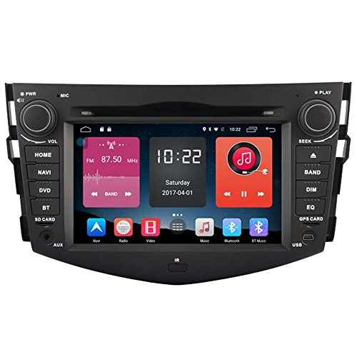 IN in Dash 1024 * 600HD Kapazitive Touchscreen Android 4.4.4 Auto DVD GPS Navigation für Toyota RAV4 2006 2007 2008 2009 2011 2012 Pc CD DVD Player Auto GPS Navigation WLAN Bluetooth Radio Video Auto Stereo Audio Multimedia USB AUX iPod Telefonbuch RDS ()