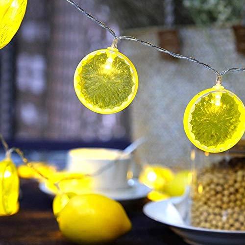 ATR Zitrone Lichterketten 1,5 M 10 LED Lichterketten Neuheit Zitrone Lichterketten lebensechte perfekte Dekoration Tisch/Geburtstagsfeier/Hochzeit Schlafzimmer warme Farbe Dekoration (Für Tisch Geburtstagsfeiern Dekorationen)