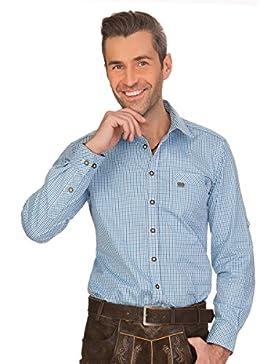 Spieth & Wensky Trachtenhemd Langarm - GRASDORF - Blau, Grün