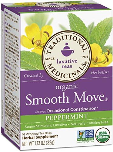 Traditional Medicinals Organic Smooth Move Peppermint Tea, 16 Tea Bags image - Kerala Online Shopping