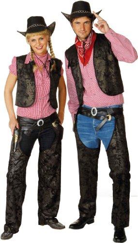 Orlob Cowgirl Chaps zum Western Damen Kostüm an Karneval Fasching Gr.40/42