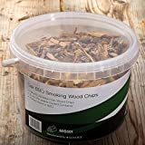First4Spares Classic Oak Smoking Wood Chips for Fire Pits BBQ's & Smokers - 3L Resealable Tub for Freshness