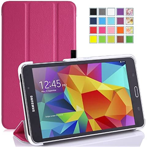 MoKo Samsung Galaxy Tab 4 7.0 / Tab 4 Nook 7 2014 Funda - Ultra Slim Ligera Smart-shell Funda para Samsung GALAXY Tab 4 7.0 Pulgadas Tableta, FUCSIA (NO va a caber el Tab 3 7.0)