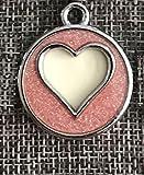 SDCXV Herz Muster Pulver Hundemarke Hund Halskette Anhänger Zubehör (Pink) Für jeden Tag