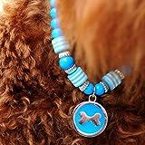 banbie8409 Mode Haustier Hund Katze Halskette Tierzubehör Runde Knochen Anhänger Acryl Perlen Haustiere Hunde Katzen Halsband Schmuck