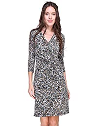 Revdelle - Robe Cache Coeur col en V Made in France Manches Longues pour  Femme Myriam f88a924c933