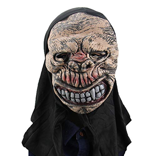 Kostüm Männlich Teufel Makeup - Scary Halloween Mask Men - Vollgesichtsmaske Kostüm für Erwachsene Party Zombie Demon Cosplay Requisiten Bloody Monster