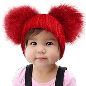 Estilo sombrero de dibujos animados, Sunroyal lana de invierno lanas boinas Fox sombreros chaquetas de cáscara de otoño y sombrero de invierno Baby Knit bufanda con un sombrero (gris)