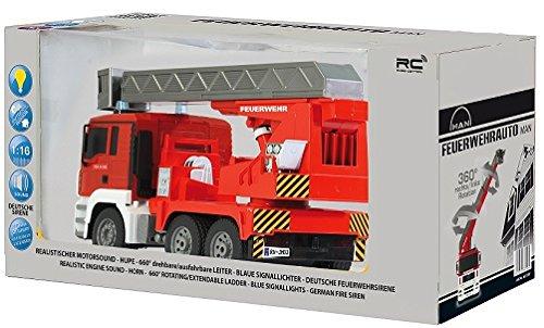 RC Auto kaufen LKW Bild 6: RC MAN Feuerwehr 27MHz ferngesteuert - Motorsound, Hupe, Licht INKL. BATTERIEN - komplett Set*