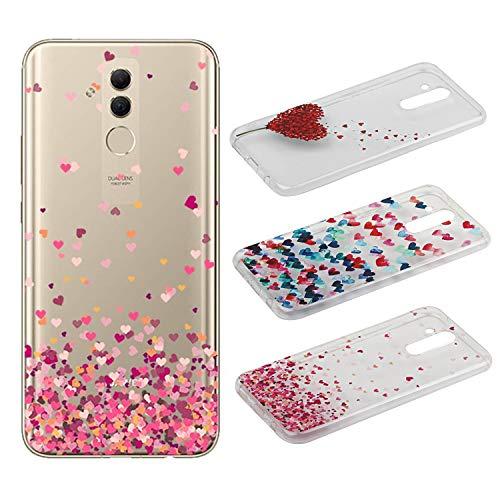 100% autentico dff4e 01c4f [3 Pack] Cover Huawei Mate 20 Lite, Weideworld 3D Creativa Cover TPU Gel  Silicone Bumper Protettivo Custodia Case Cover Per Huawei Mate 20 Lite,  Amore