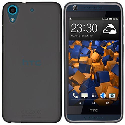 mumbi Schutzhülle für HTC Desire 626G Hülle transparent schwarz
