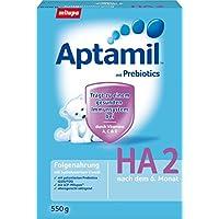 Aptamil HA 2 Folgenahrung mit hydrolysiertem Eiweiß, 3er Pack (3 x 550 g)