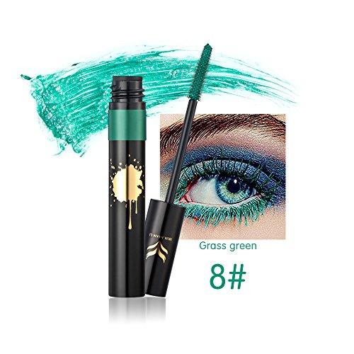 329bd5709 Kazora 8 Colors Mascara Waterproof Anti-sweat - Colorful Eyelash Makeup  Lash Eyelashes Foundation (8 grass green) - Buy Online in Qatar.