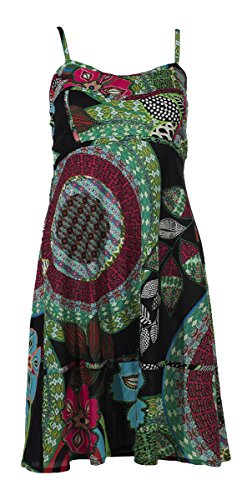 Coline - Robe courte 100% coton Noir