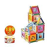 Pädagogisches magnetisches Baustein Spielzeug, magnetische Stöcke Fliesen Bausteine 3D Pädagogisches Spielzeug Set für Kinder - Magenesis