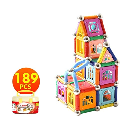 Educational Magnetic Sticks Building Blocks Toys, Magnetic Tiles Construction Blocks 3D Educational Toy Set for Kids - Magenesis�