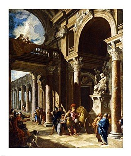Giovanni Paolo Panini - Alexander The Great Cutting The Gordian Knot Kunstdruck (40,64 x 48,26 cm)