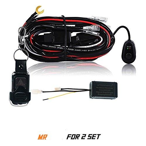 Preisvergleich Produktbild AFTERPARTZ D4 fernbedienter Schalter Kabelbaum für LED Arbeitsscheinwerfer (2 Stück Lampen),  R2 3, 5M,  F2 Fernbedienung