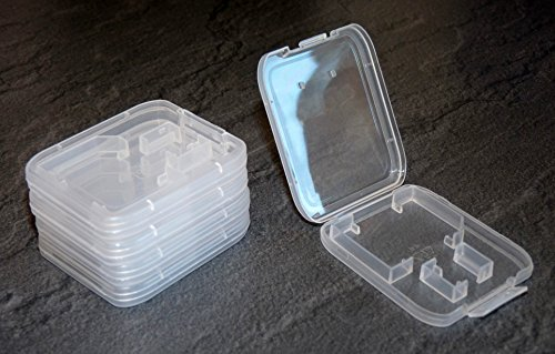 5 Stück Schutzhülle für SD Speicherkarte (Für SD+Micro SD)