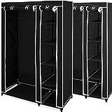 Deuba 2x Mobiler Kleiderschrank Faltschrank - Garderobenschrank Wäscheschrank Textilschrank