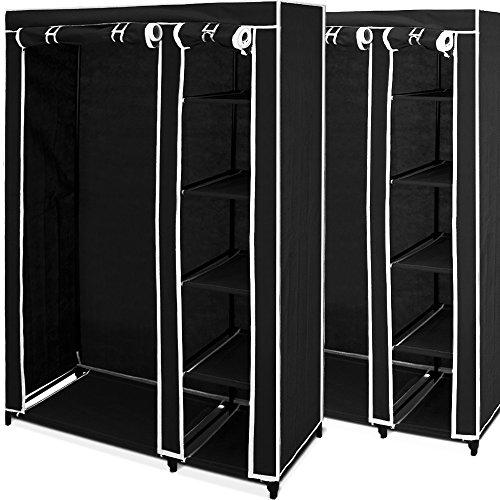 2x Mobiler Kleiderschrank Faltschrank - Garderobenschrank Wäscheschrank Textilschrank