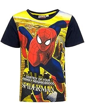 Marvel Spiderman T-Shirt für Kinder, original Lizenzware, schwarz, Gr. 98 - 128
