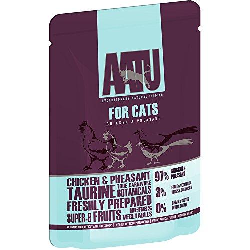 AATU Cat Wet Duck Cat Food Pack de 16