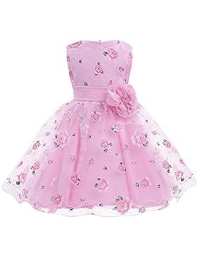 Freebily Kinder Kleid Festliche Kleider Blumensmädchenkleid Organza Hochzeit Prinzessin Party Kinderkleid Sommerkleid...