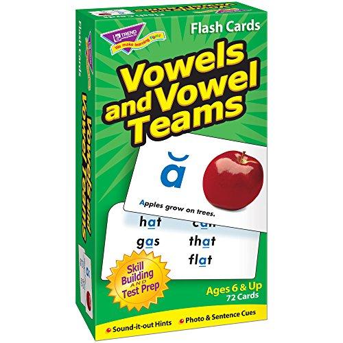 TREND UNTERNEHMEN T-Flash-Karten 53008 Vokale und VOWEL TEAMS-72/BOX (Flash-karten Trend)