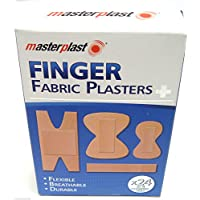 Fabric Plasters Finger Plasters Fabric Bandage First Aid Plaster Strip x 24 by Masterplast preisvergleich bei billige-tabletten.eu