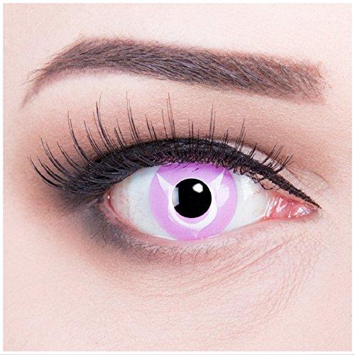 Funnylens 1 Paar farbige pink rosa Crazy Fun geass Jahres Kontaktlinsen. perfekt zu Halloween, Karneval, Fasching oder Fasnacht mit gratis Kontaktlinsenbehälter ohne Stärke!