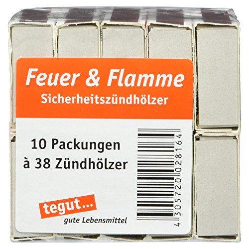 Feuer und Flamme Streichhölzer, 10 Set