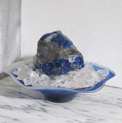 Zimmerbrunnen Lapis Lazuli Brunnen 'Blue-Dream' beleuchtet