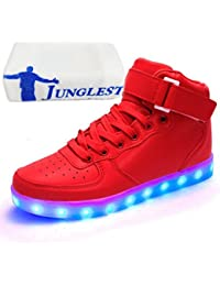 (Presente:pequeña toalla)JUNGLEST® Unisex Hombres Mujeres 7 colores LED Light Up Zapa