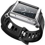 Aussel Cool Alumium Reloj Banda Tira de muñeca para iPod Nano 6G Funda