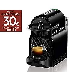 Idea Regalo - Nespresso Inissia EN80.B Macchina per caffè Espresso, 1260 W, 1 Tazza, 14 Decibel, 19 bar, Plastica, Nero (Black)