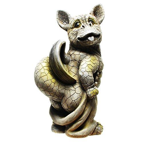 Drache-Drachen-(D3) Murmeltier Erdmännchen Gartenzwerg Gartenfigur Tierfigur NEU Wetterfest Gartenzwerg Deko Polystone Reptil Fantasy Krokodile