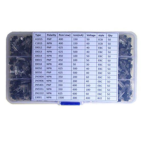 FLAMEER Transistoren Sortiment Kit mit Aufbewahrungsbox
