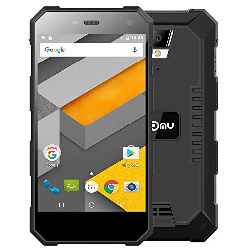 "NoMU S10-IP68 Smartphone Tri-Proof Waterproof 4G LTE 5.0 ""IPS scherm Android 6.0 Quad Core 1.5GHz 64bit 2GB + 16GB 8MP Camara Shockproof Dust"