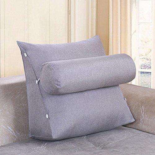 MMM- Chevet Triangulaire Coussin Sangle Garde-Cou Oreiller Canapé Bureau Dossier Pad Lit Oreillers ( Couleur : Gris clair , taille : 60 cm )