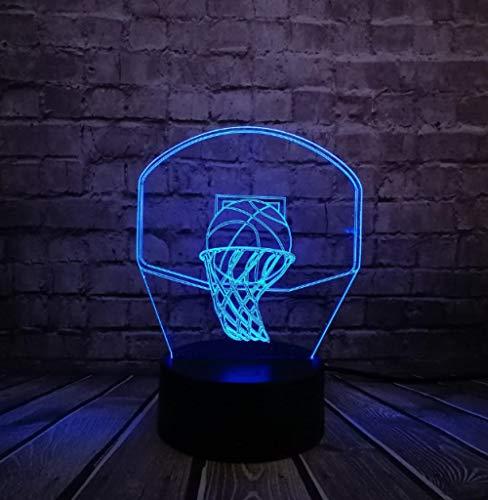 ZJFHL Basketball Sport Dunk schießen einen Korb 3D Lampe Nachtlicht LED Licht Weihnachten Decora Kinder Jungen Geschenk