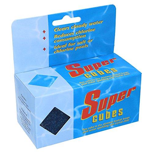 Super Cubes von SL247, Fein Flockungsmittel für kristallklares Wasser, das besonders ergiebige Flockmittel in Gelform für Ihrem Swimmingpool, wirksam bis zu 8 Wochen