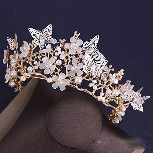 MDRW-Bridal Hochzeit Ballsaal Haarnadel Haarschmuck Skleid Kopfschmuck Krone Krone Barock Zubehör Haar-Schmuck Haare
