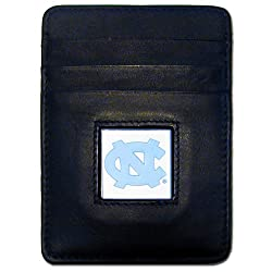 NCAA North Carolina Tar Heels Leather Money Clip/Cardholder