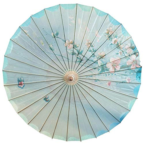 AJIAO Paraguas Madera Mujer Impermeable Bambú Paraguas